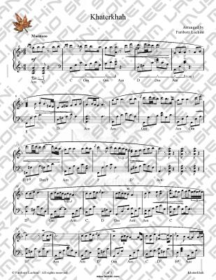 Khaterkhah Sheet Music
