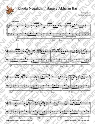 Khoda Negahdar Sheet Music
