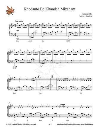 Khodamo Be Khandeh Mizanam Sheet Music