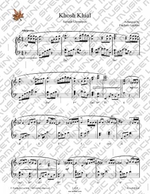 Khosh Khial Sheet Music