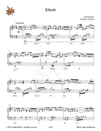 Khosh Sheet Music