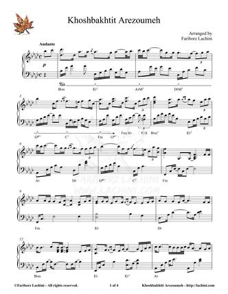 Khoshbakhtit Arezoumeh Spartiti musicali