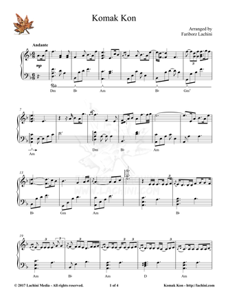 Komak Kon Sheet Music