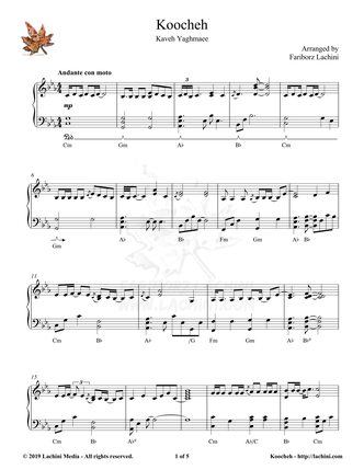 Koocheh Sheet Music