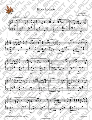 Koochooloo Sheet Music