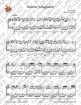 Kouche Asheghaneh Sheet Music