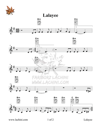 Lalayee Sheet Music