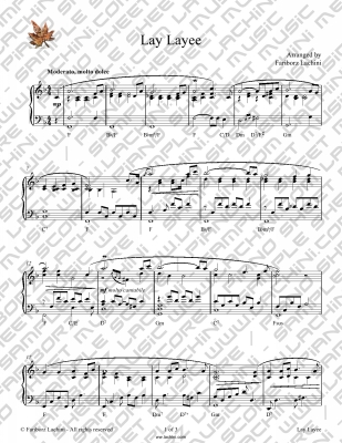 Lay Layee Sheet Music
