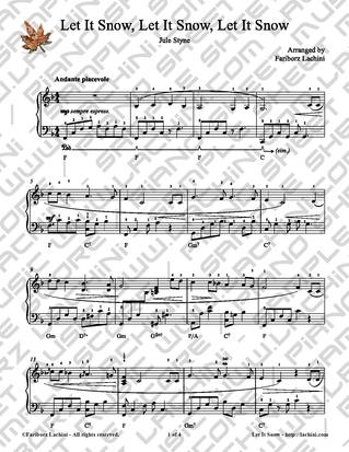 Let It Snow, Let It Snow, Let It Snow Sheet Music