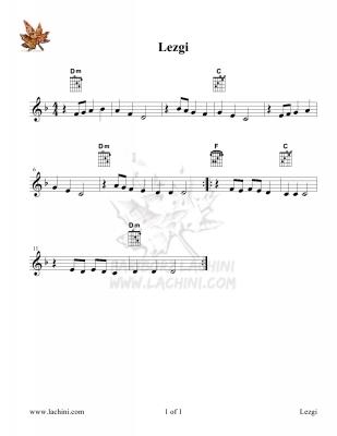 Lezgi Sheet Music