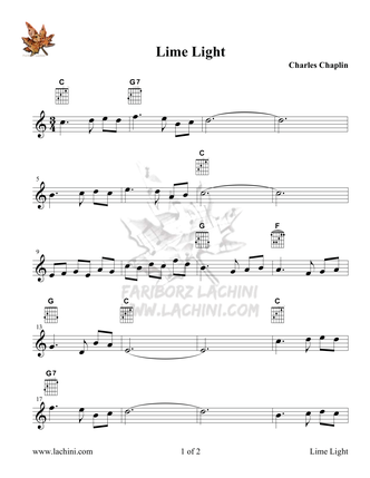 Lime Light Sheet Music