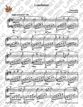 Loneliness Sheet Music