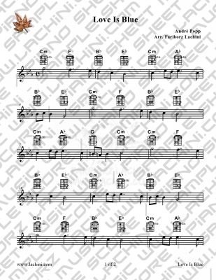 Love Is Blue Sheet Music