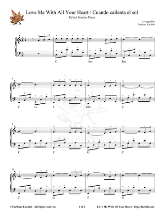 Love Me With All Your Heart Sheet Music
