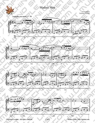 Madare Man Sheet Music