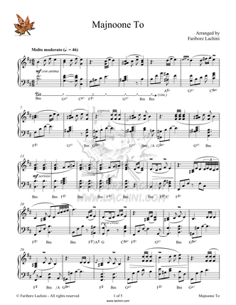 Majnoone To Sheet Music