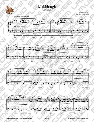 Makhlough Sheet Music