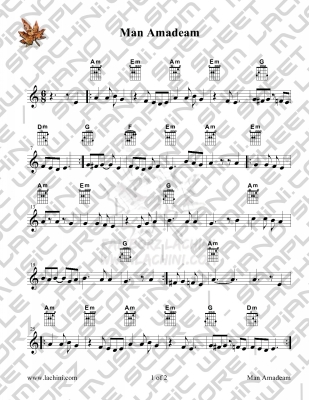 Man Amadeam Sheet Music