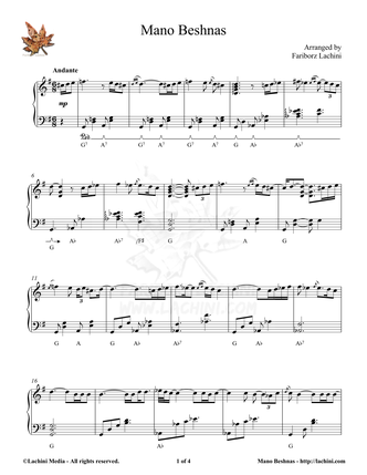 Mano Beshnas Sheet Music