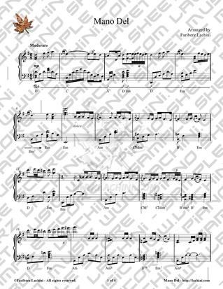 Mano Del Sheet Music