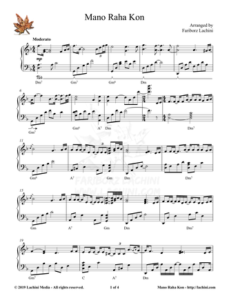 Mano Raha Kon Sheet Music