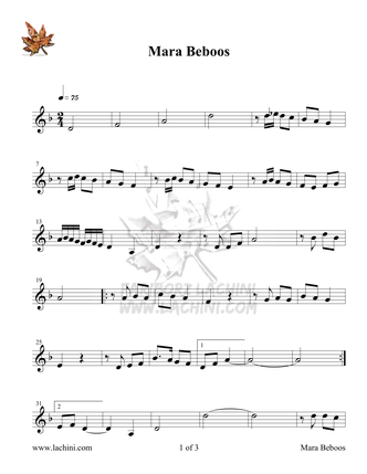 Mara Beboos Sheet Music