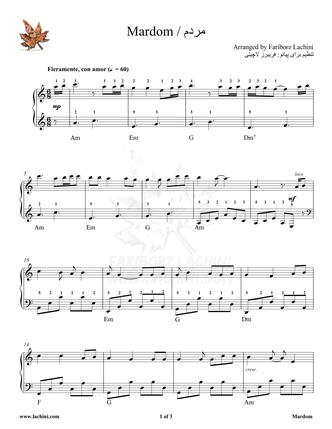 Mardom Sheet Music