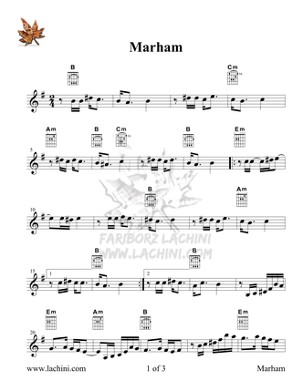 Marham Sheet Music