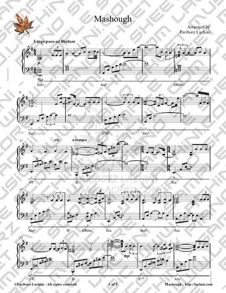 Mashough Sheet Music