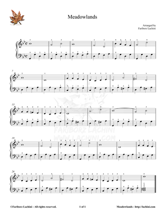 Meadowlands Sheet Music
