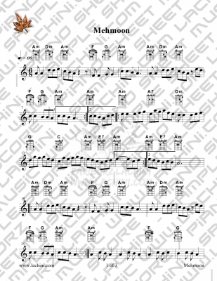 Mehmoon Sheet Music