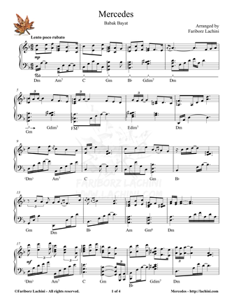 Mercedes Sheet Music