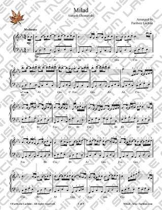 Milad Sheet Music