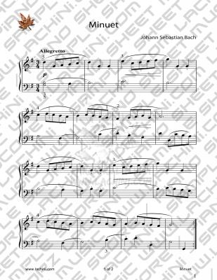 Minuet 音乐页