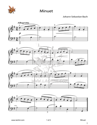 Minuet Sheet Music