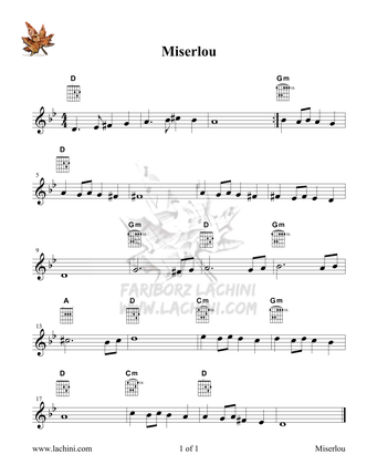 Miserlou Sheet Music