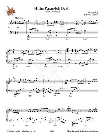Mishe Parandeh Bashi Sheet Music