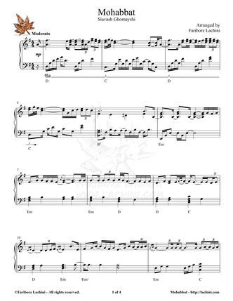 Mohabbat Sheet Music