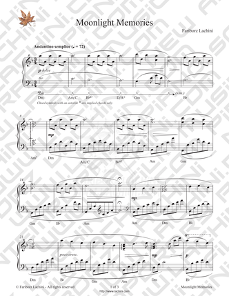 Moonlight Memories Sheet Music