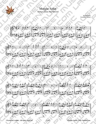 Morghe Sahar Sheet Music