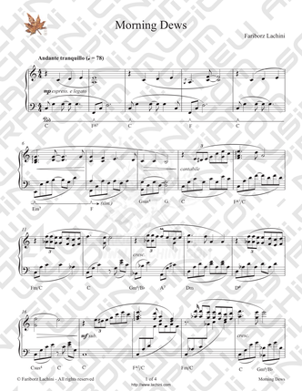 Morning Dews Sheet Music