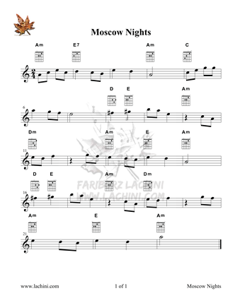 Moscow Nights Sheet Music