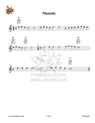 Mostafa Sheet Music