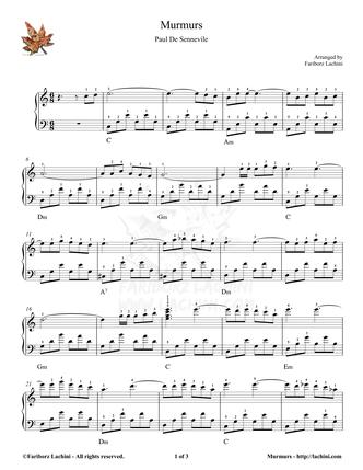 Murmurs Sheet Music