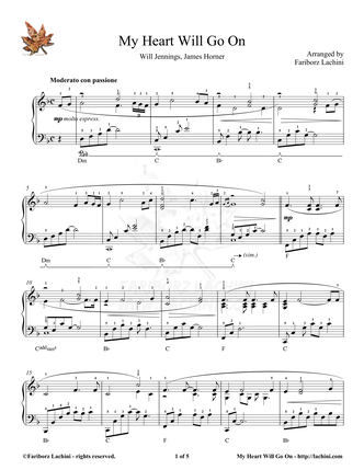 My Heart Will Go On - Titanic Sheet Music