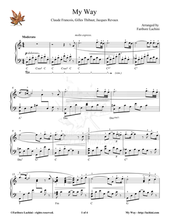 A Mi Manera Sheet Music
