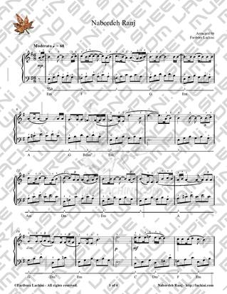 Nabordeh Ranj Sheet Music