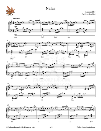 Nafas Sheet Music