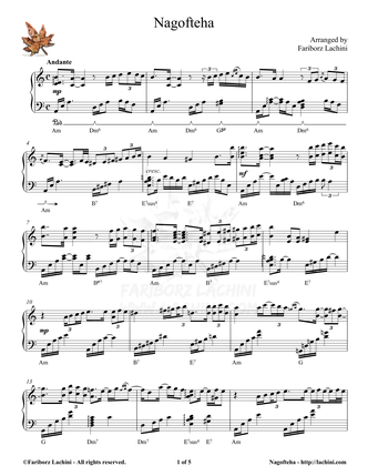Nagofteha Musiknoten
