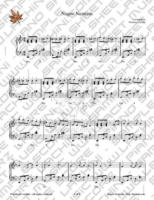Nagoo Nemiam Sheet Music